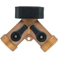 Orbit 58248N Brass Hose Y With Shut Off