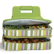 Picnic Plus PSM-721LR Entertainer Hot & Cold Food Carrier, Lime Rickey
