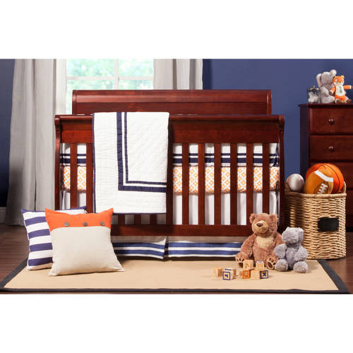 DaVinci Kalani 4-in-1 Fixed-Side Convertible Crib with Toddler Rail, Cherry