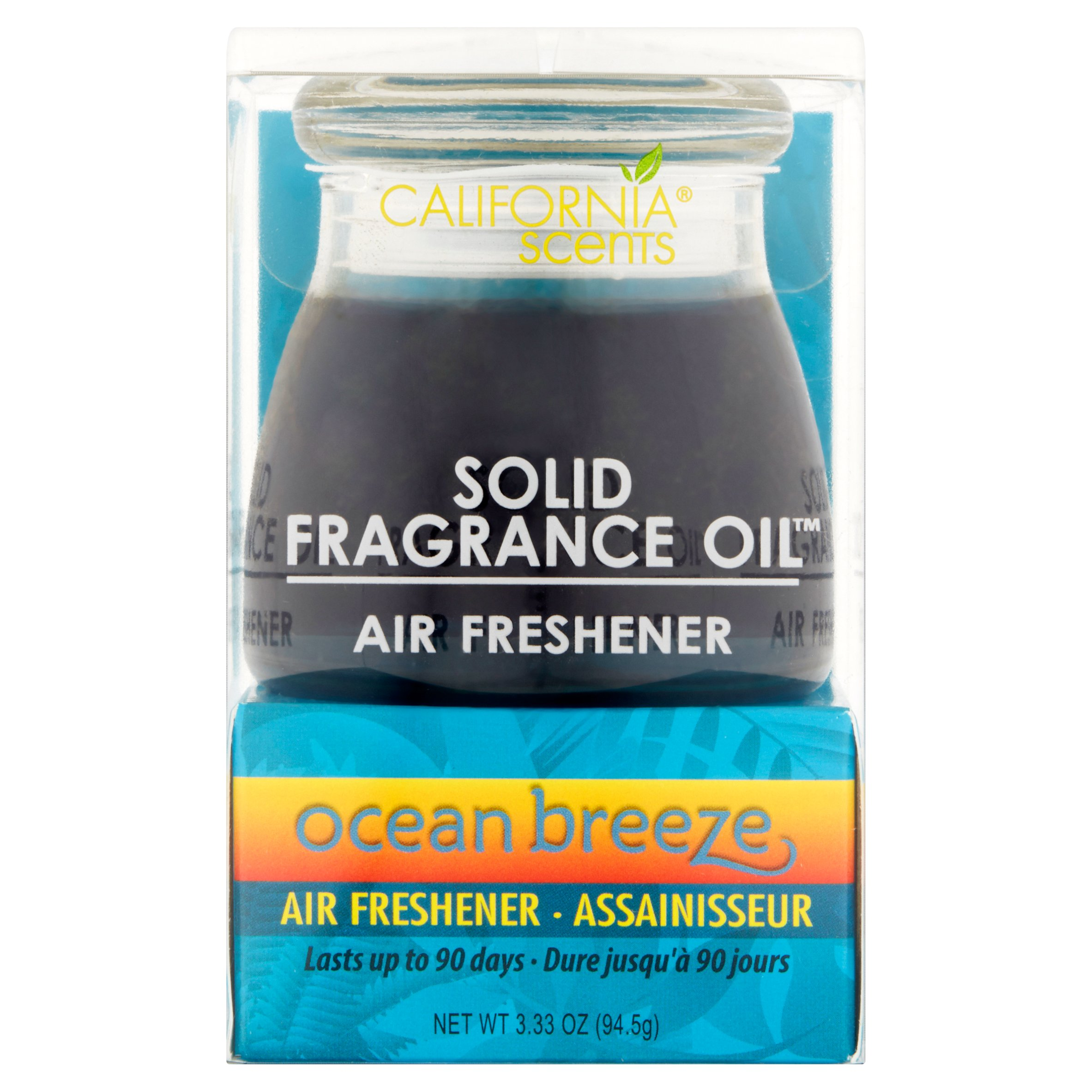California Scents Solid Fragrance Oil Ocean Breeze Oil Air Freshener, 3.33 oz, 6 pack