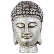 Urban Trends Buddha with Beaded Hair and Small Ushnisha Bust