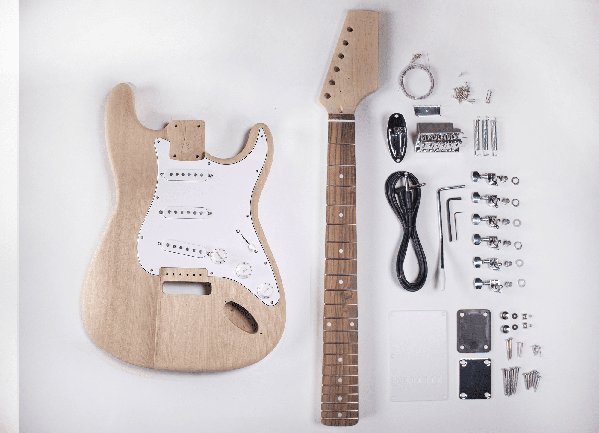 diy electric guitar kit ash strat style build your own guitar. Black Bedroom Furniture Sets. Home Design Ideas