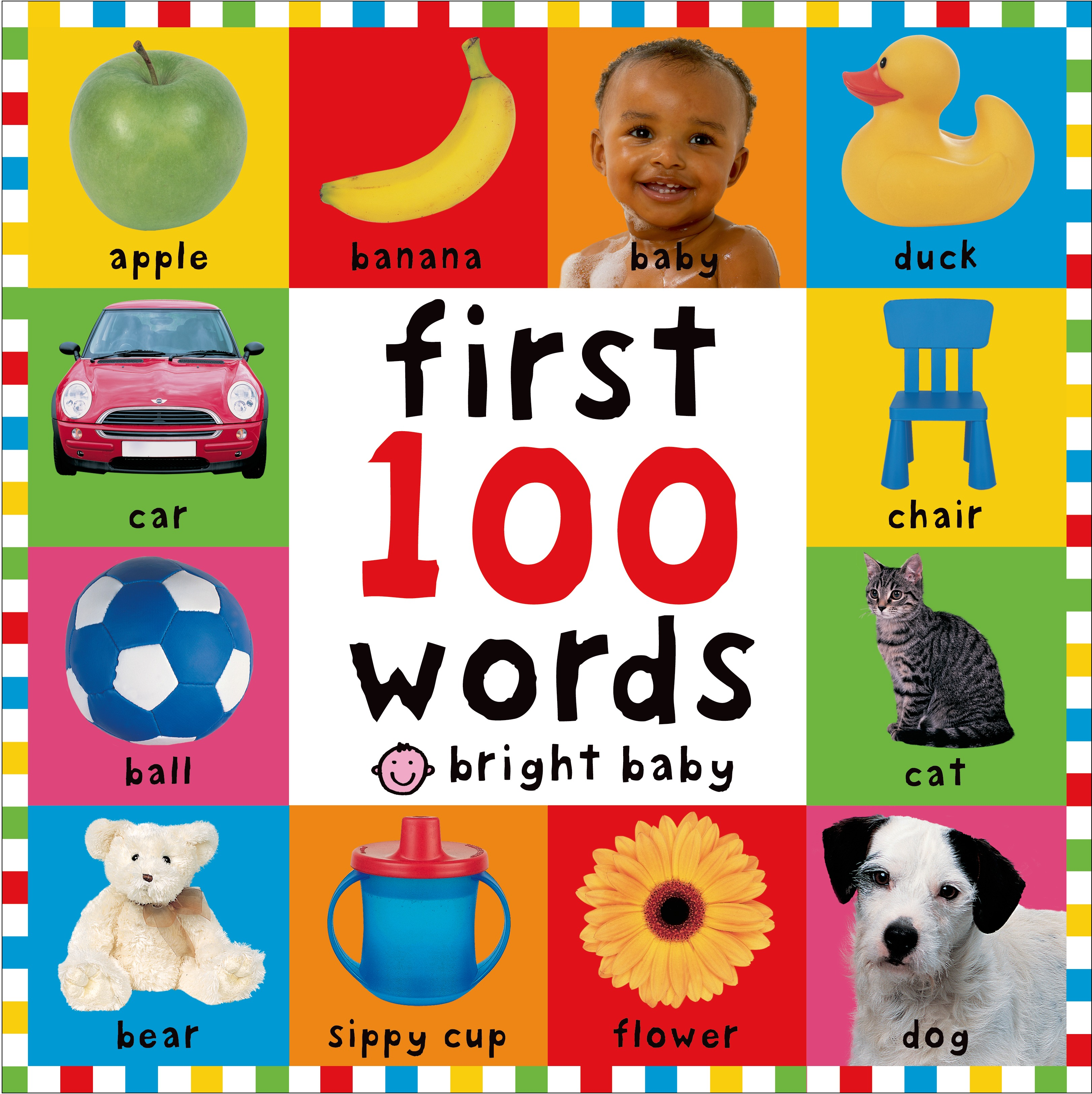Bright Baby First 100 Words Board Book