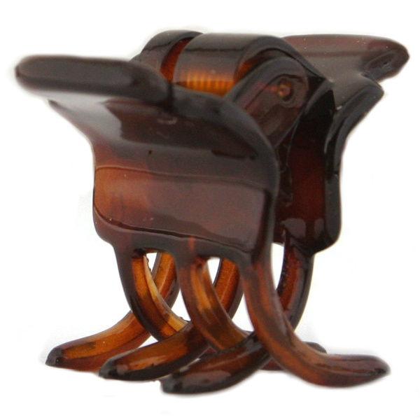 Caravan Tiny Claw Clip Patent Tortoise Shell Model No. 253