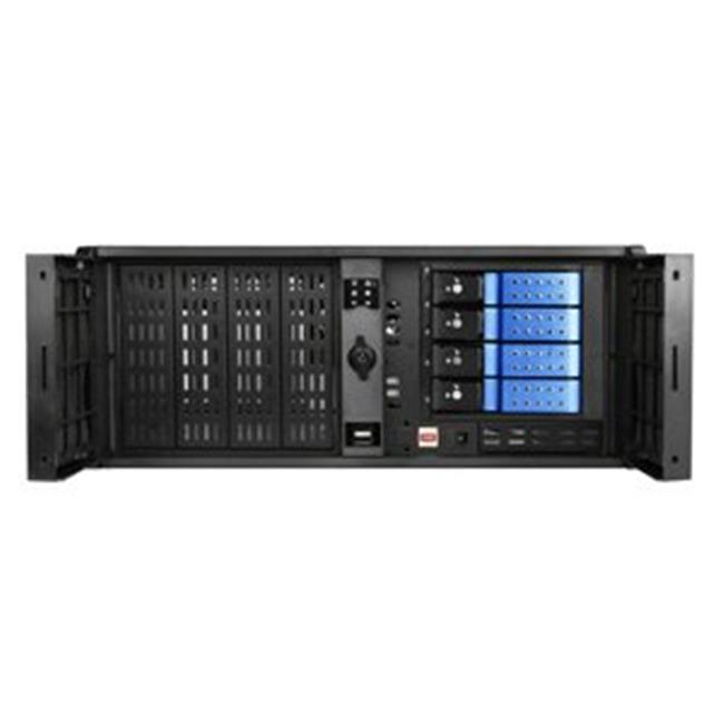 iStarUSA D407P-DE4BL 4U Compact Stylish Rackmount 4 x 3.5 In. Trayless Hotswap Chassis, Blue