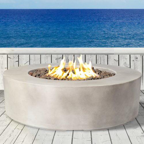Living Source International Santiago Concrete Propane Fire Pit Table