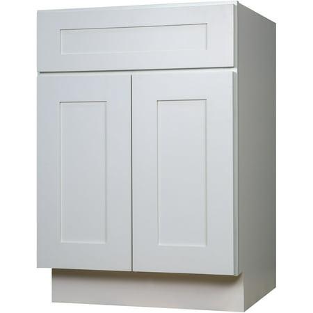 cabinets 24 inch white shaker single sink bathroom vanity cabinet