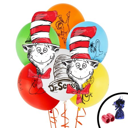Dr. Seuss Cat in the Hat Jumbo Balloon Bouquet](Dr Seuss Cat In The Hat Hat)