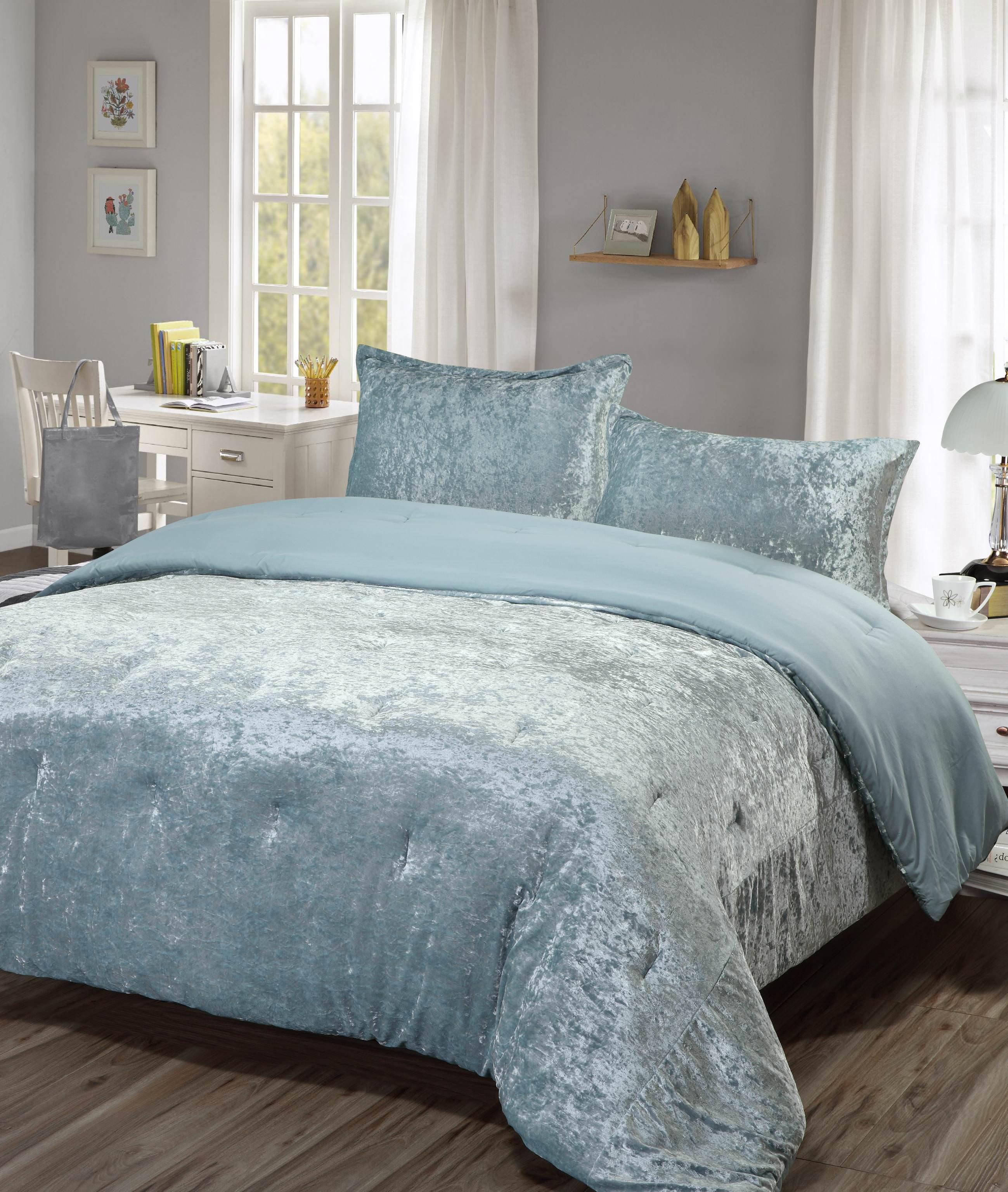 Lulu Coco Crushed Velvet Comforter Set Walmart Com Walmart Com