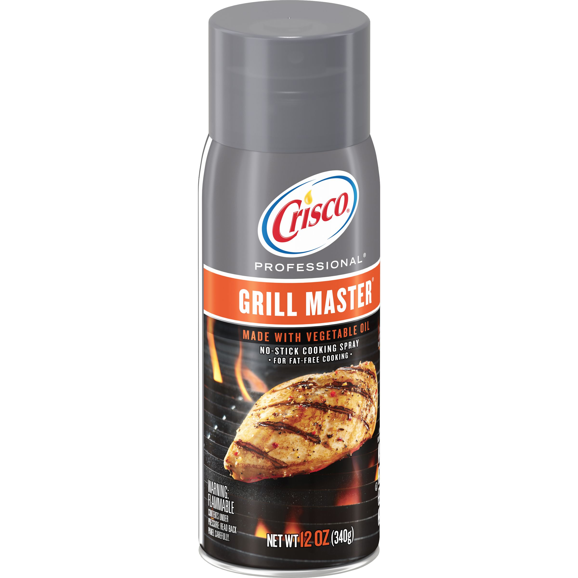 (2 Pack) Crisco Professional Grill Master No-Stick Grill Spray, 12-Ounce