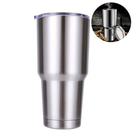 Tumbler 30oz Double-Wall Stainless-Steel Vacuum Insulation Travel Mug with Lid Water Coffee Cup Works Great For for Ice Drink, Hot