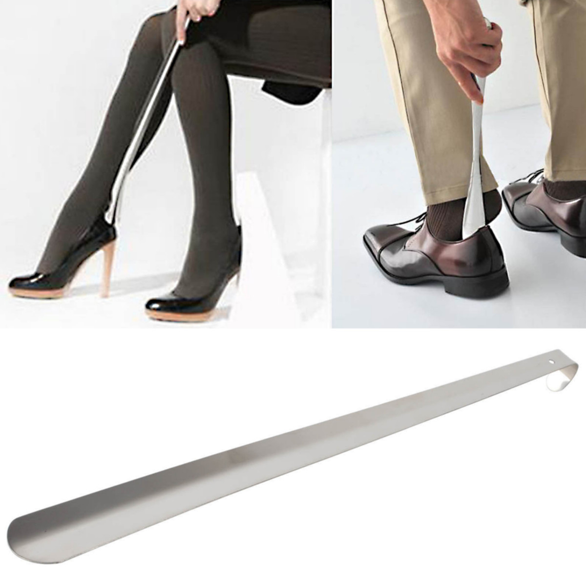 4a5723e8a52 On Clearanace 20   Professional Stainless Steel Extra Long Handle Shoe Horn  Lifter Flexible Shoehorn Silver Metal Shoes Remover Shoehorn for Women Men  Dress ...
