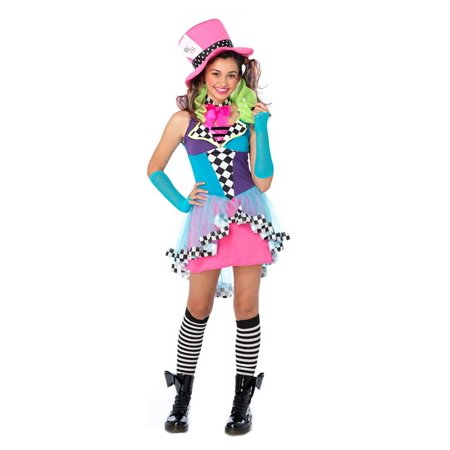 Leg Avenue Teen Girl's Junior Mayhem Mad Hatter Costume](Crazy Mad Hatter Costume)