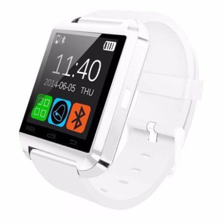 Amazingforless T-9 Premium White Bluetooth Smart Wrist Watch Phone mate for Android Samsung HTC LG Touch Screen with Camera
