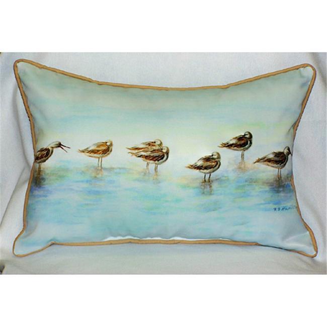 Betsy Drake HJ024 Avocets Art Only Pillow 15''x22''