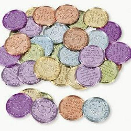 Plastic Kindness Coins (12 dozen) - Bulk](Coin Party)