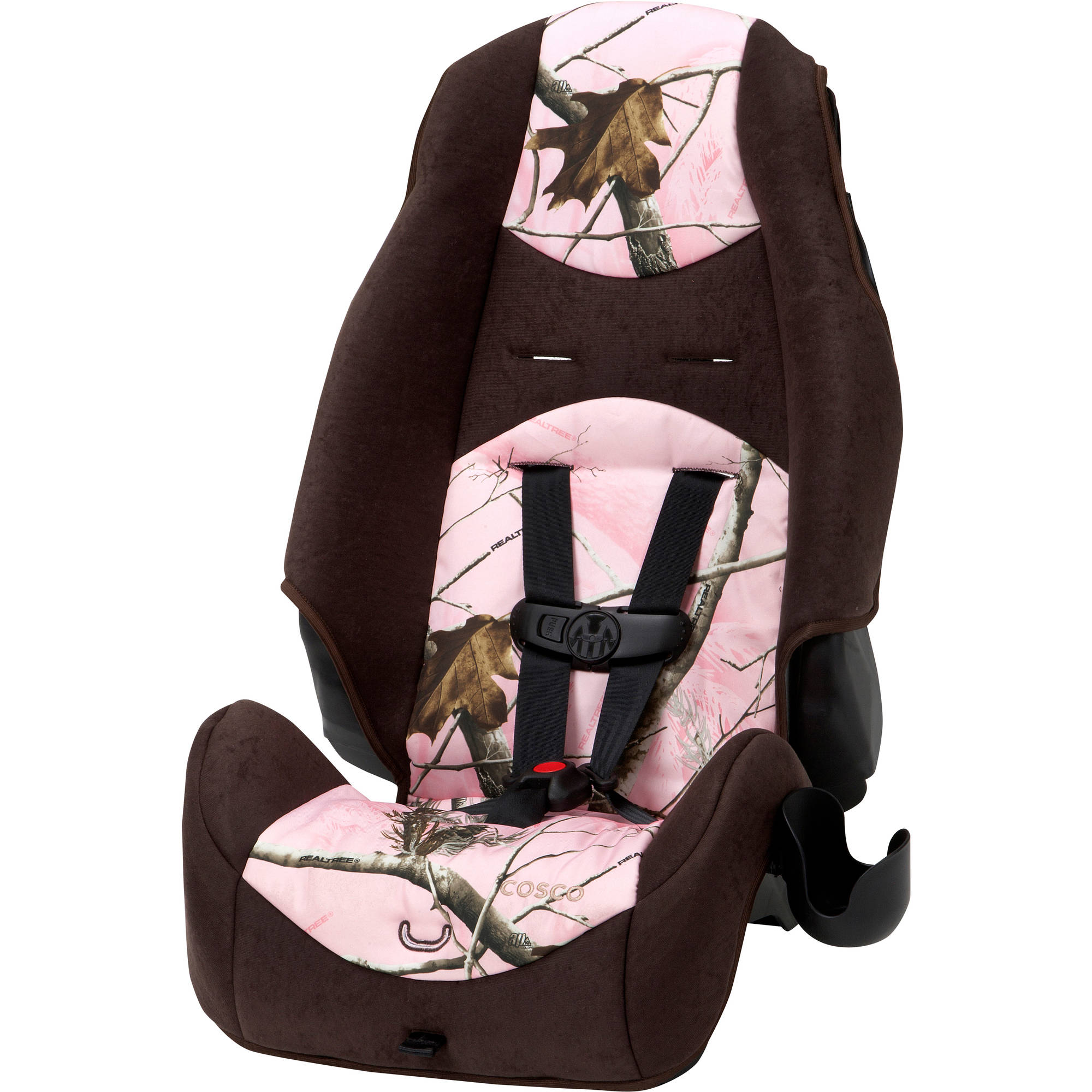 Cosco Highback 2-in-1 Booster Car Seat, Realtree Ap Pink