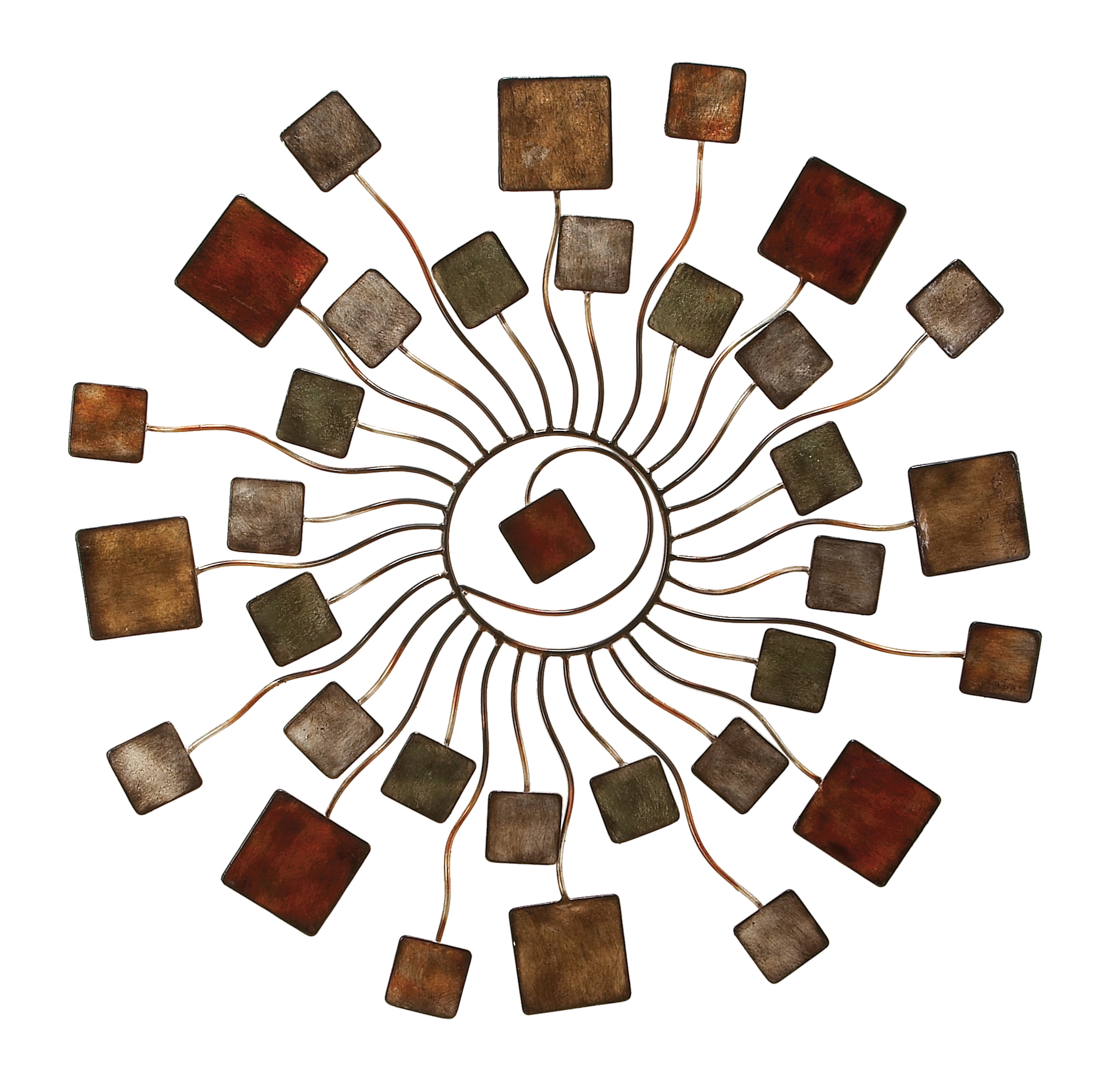 Decmode Contemporary 32 Inch Abstract Metal Sunburst Wall Decor by DecMode