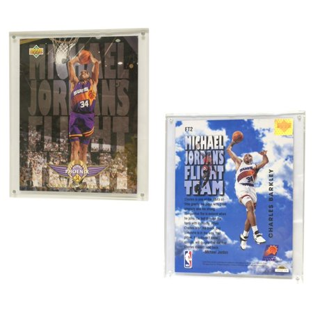 Phoenix Suns Charles Barkley 93 94 8  X10   Upper Deck Blow Up Card With Acrylic Display