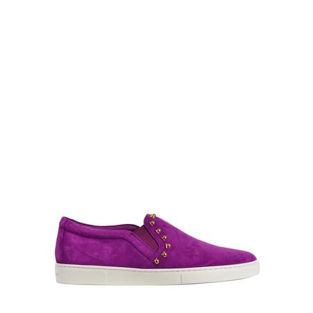 Salvatore Ferragamo Womens  Purple Suede Spargi  Slip On - Salvatore Ferragamo Women Shoes