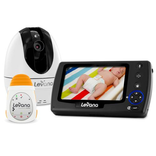 Levana Ovia Digital Baby Video Monitor with LEVANA Powered by Snuza Oma Portable Baby Movement Monitor System-32050