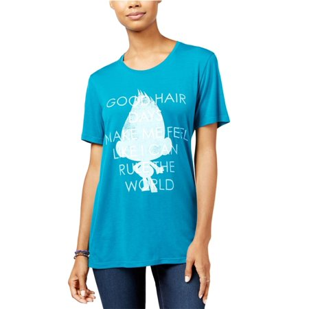 ea50e5c8f Dreamworks - Dreamworks Womens Trolls Good Hair Day Graphic T-Shirt -  Walmart.com