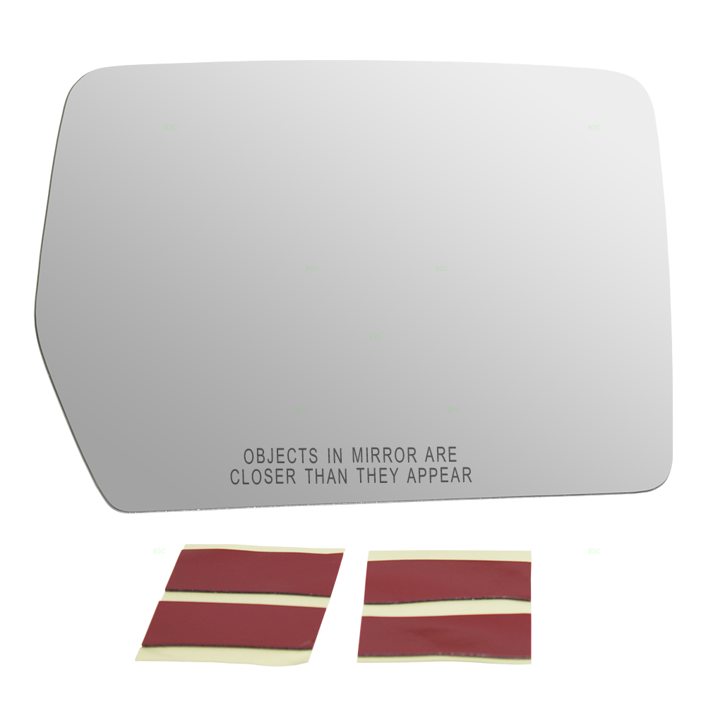 Brock Side View Mirror Glass Heated W Adhesive Strips Passenger