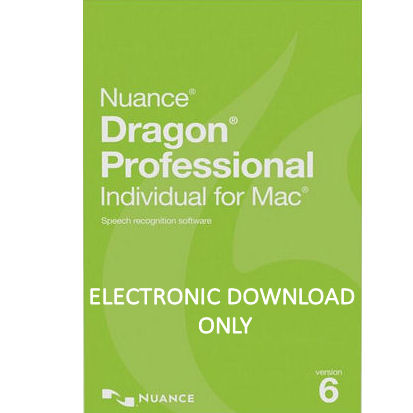 Nuance S601A-G00-6.0 Dragon Professional Individual for M...