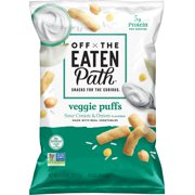 Off The Eaten Path Veggie Puffs, Sour Cream & Onion, 4.5 oz bag