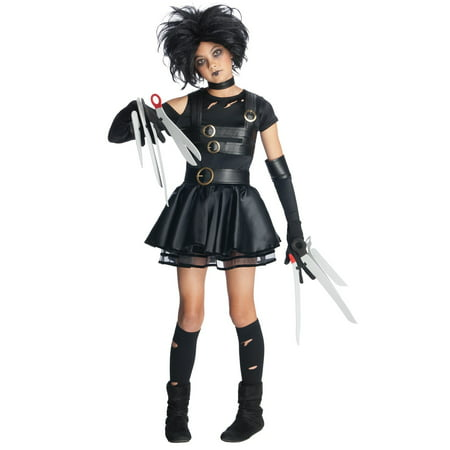 Miss Scissorhands Tween Girl Costume](Edward Scissorhands Halloween Makeup)