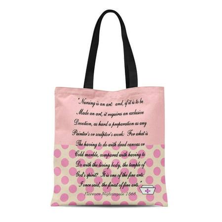 SIDONKU Canvas Tote Bag Graduation Nurse Florence Nightingale Retirement Retiring Nursing Student Registered Reusable Handbag Shoulder Grocery Shopping