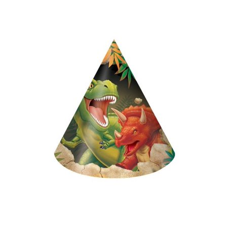 Access Dino Blast Child Size Paper Party Hats, 8 Ct (Dinosaur Hats)
