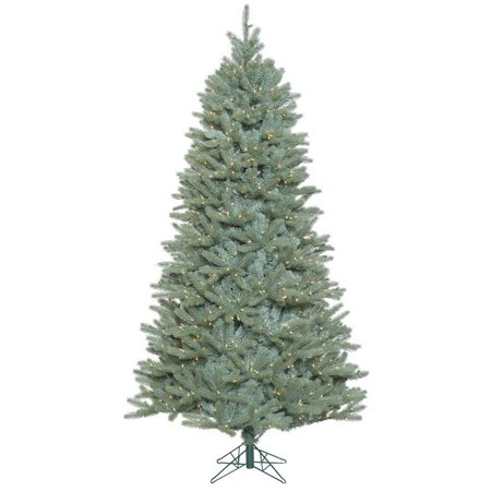 Vickerman 6.5\' Colorado Blue Spruce Slim Artificial Christmas Tree with 650  Clear Lights
