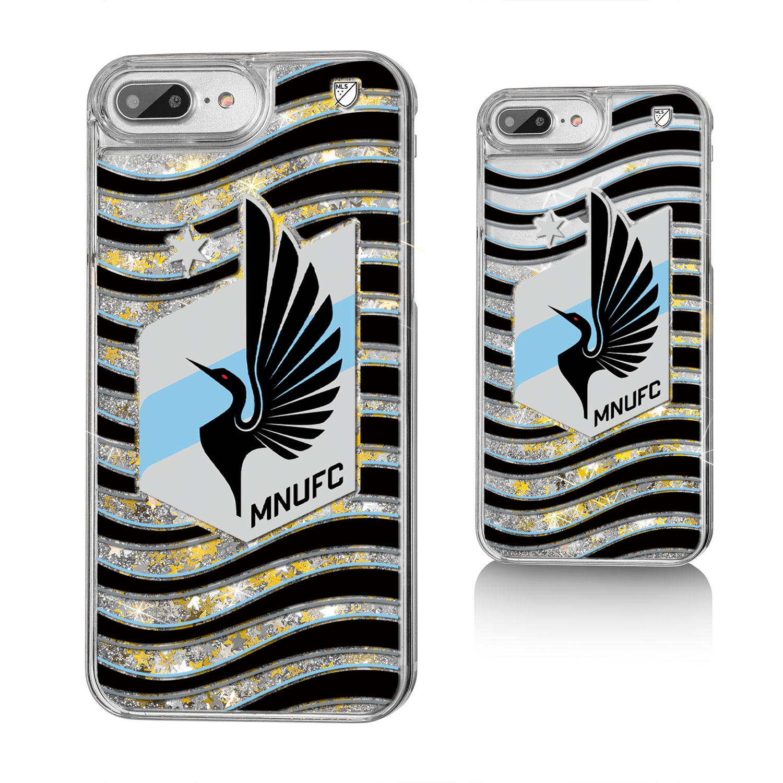Minnesota United FC MNUFC Wave Glitter Case for iPhone 8 Plus / 7 Plus / 6 Plus