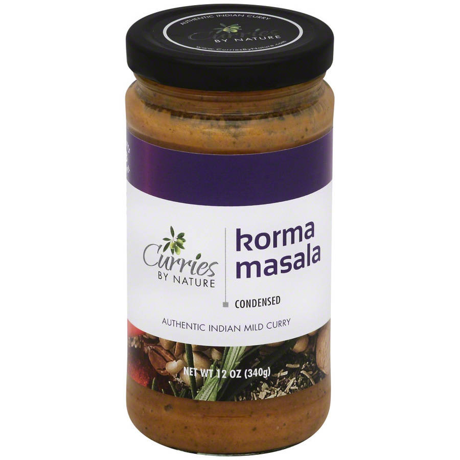 Curries By Nature Korma Masala Curry Sauce, 12 oz, (Pack of 6)