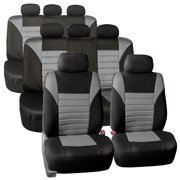 3 Row 8 Seaters SUV Seat Covers for Auto 3D Mesh Gray Black Full 3 Row Covers Set For SUV Van