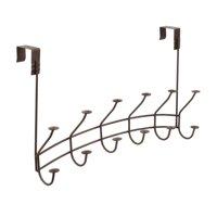 Spectrum Diversified Windsor over The Door 6-Double Hook Rack, Bronze, 63324
