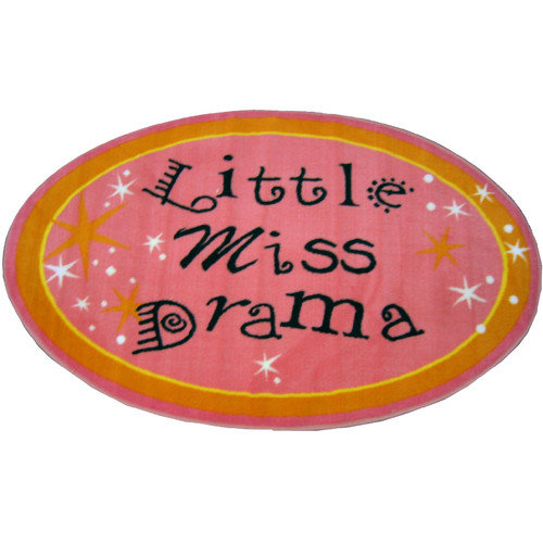 Fun Rugs Fun Shape Little Miss Drama Area Rug
