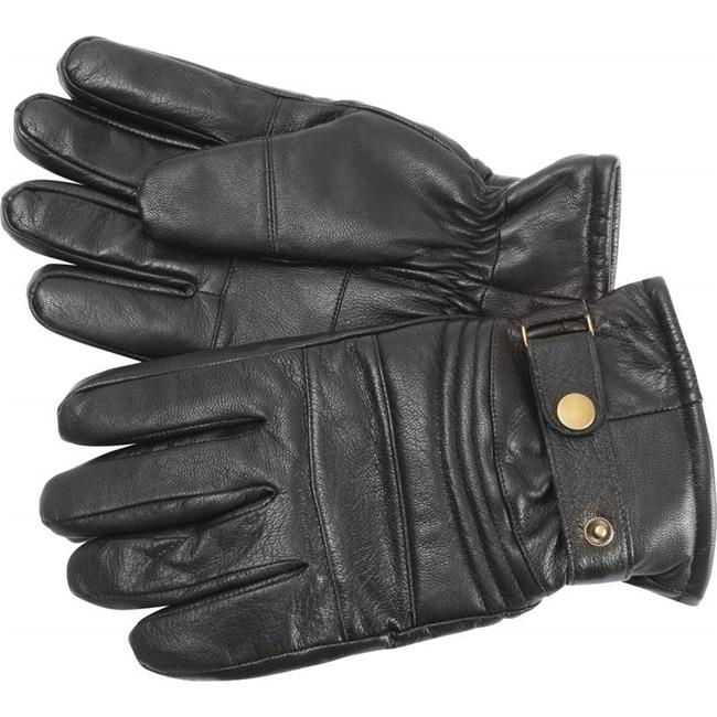 Goat Leather Insulated Adjustable Motorcycle Gloves, Large