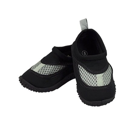 Iplay Unisex Boys or Girls Sand and Water Swim Shoes Kids Aqua Socks for Babies, Infants, Toddlers, and Children Black Size 4 / Zapatos De Agua - Converse For Toddler