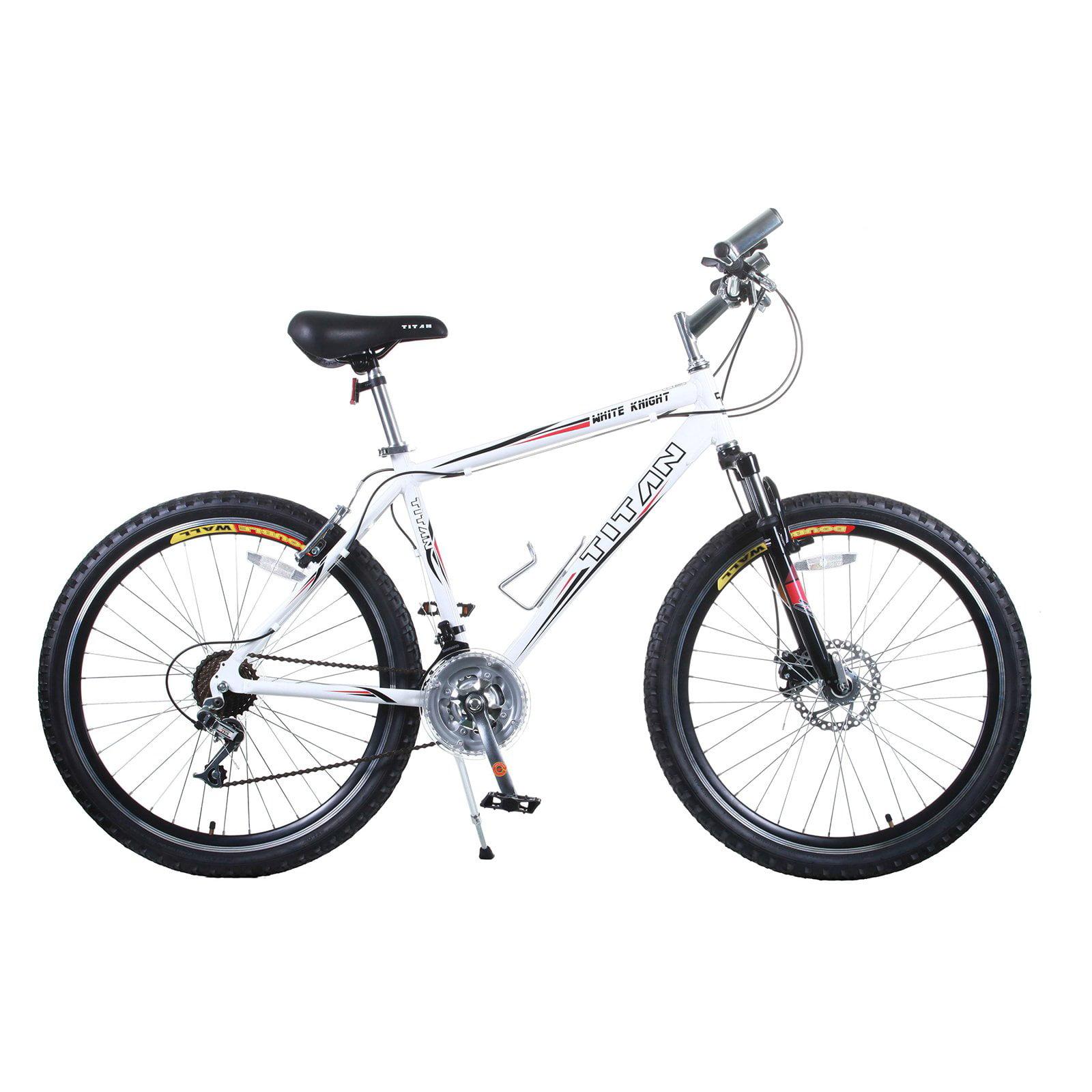 Titan White Knight Fully Alloy Men's All-Terrain Mountain Bike with Disc Brake