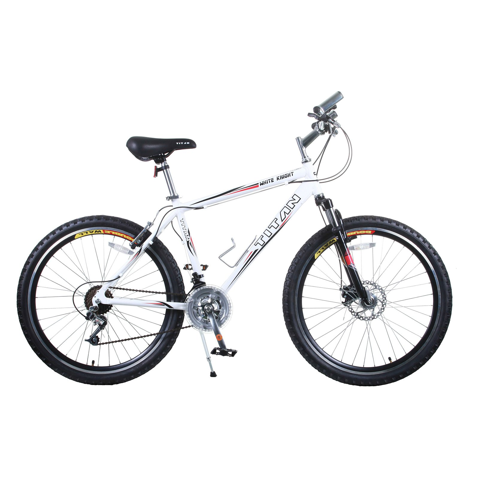 Titan White Knight Fully Alloy Men's All-Terrain Mountain Bike with Disc Brake