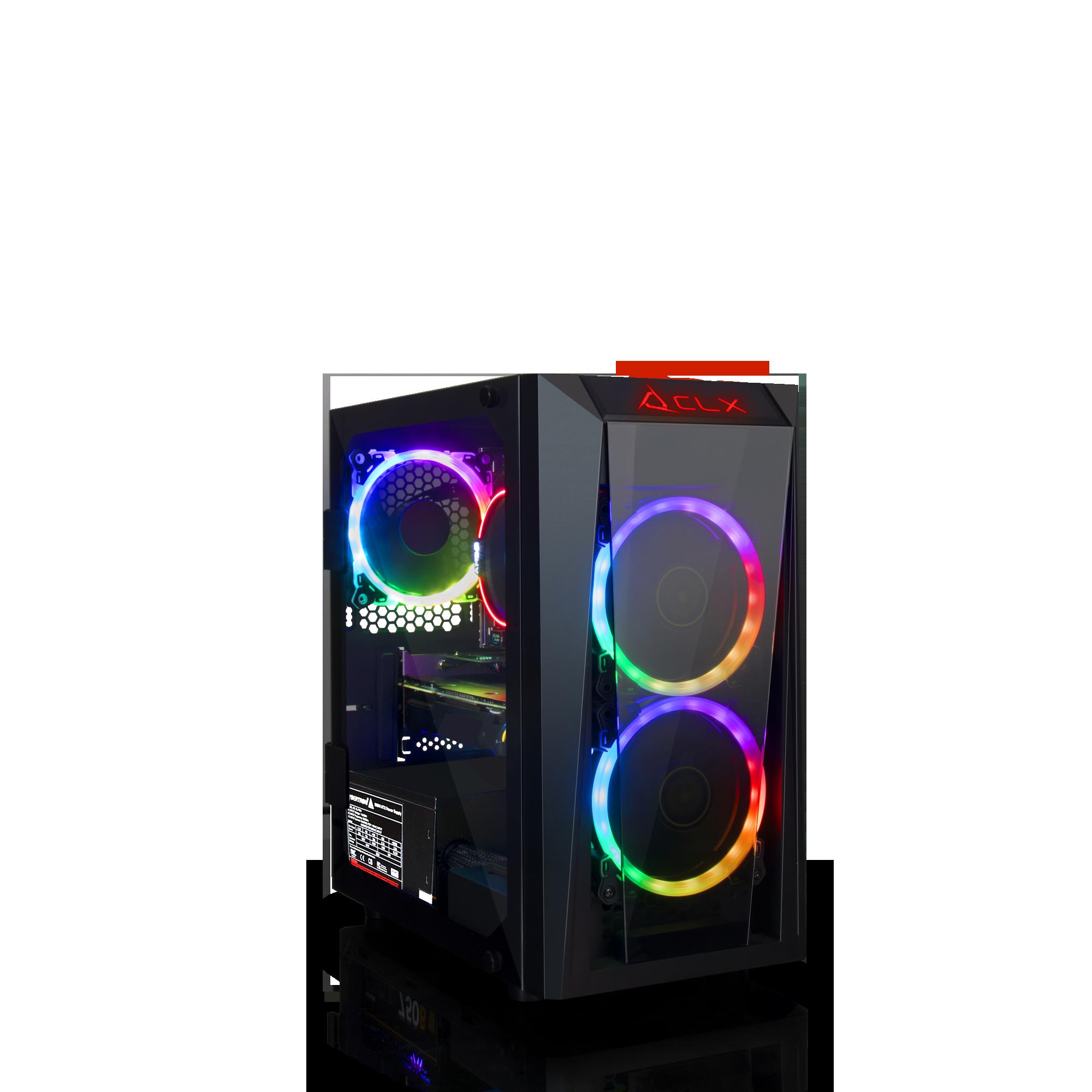 CLX SET GAMING AMD Ryzen 7 2700 3.20GHz, Radeon RX 580 4GB, 8GB Mem, 120 SSD + 1TB HDD