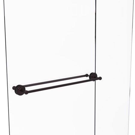 Que New Collection 30 Inch Back to Back Shower Door Towel Bar Pewter Shower Hardware