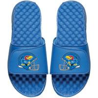 Kansas Jayhawks ISlide Helmet Logo Slide Sandals - Royal