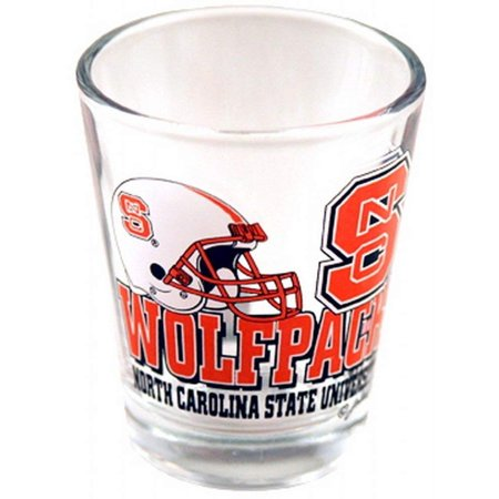 NCAA North Carolina State Wolfpack Helmet Shotglass, Great for Every Fan! By Game Day Outfitters