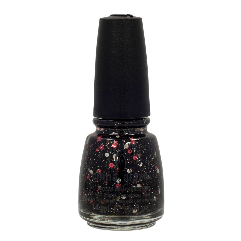 China Glaze 0.5oz Nail Polish Lacquer Clay Multi-Color, GET CARRIED AWAY, 81130