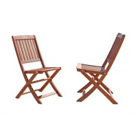 Pemberly Row Outdoor Wood Folding Bistro Chairs (Set of 2)