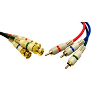 CableWholesale 10V2-25206 High Quality Component Video RCA to BNC Component Conversion Cable  3 RCA Male to 3 BNC Male  6 foot