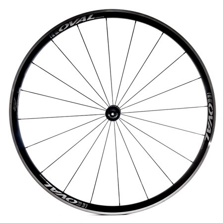 Oval Concepts 327 700c Alloy Road Bike Front Wheel Clincher Silver/White QR